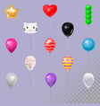 balloons in air happy birthday gift vector image
