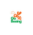 bee logo design vector image vector image