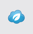 Blue cloud plant icon vector image vector image
