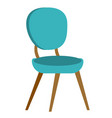 blue modern chair cartoon vector image vector image