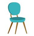 blue modern chair cartoon vector image