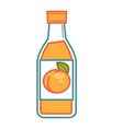 bottled apricot juice vector image vector image