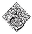 bronze ornament is a twelfth century bronze vector image vector image