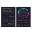 business infographics brochure with various charts vector image vector image