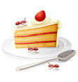 Cake and ants vector image vector image