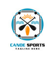 canoe sports logo vector image