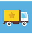 Cargo Delivery Truck Icon vector image
