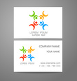 connecting people logo template vector image vector image