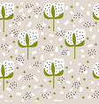 cotton with leaves background seamless vector image vector image