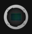 crop image sensor vector image vector image