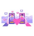 dating website social media relationship concept vector image vector image