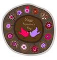 decorative folk plate vector image vector image