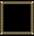 decorative luxurious golden frame in art deco vector image vector image