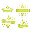 eco icons labels set organic tags natural vector image vector image