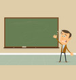 express yourself - teacher showing blackboard vector image