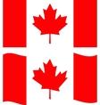 flat and waving canada flag vector image