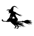 halloween evil witch and vector image vector image
