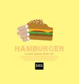 Hamburger EPS10 vector image vector image