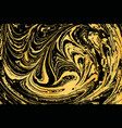 hand drawn ink marbling vector image vector image