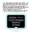 Hand Written Sketched Alphabet - Font with vector image