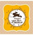 happy easter design vector image vector image
