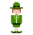 isolated pixel patrick day elf vector image