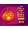 Jack pumpkin party invitation vector image