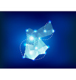 Jordan country map polygonal with spot lights vector image vector image