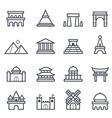 Landmark Icon Bold Stroke vector image vector image