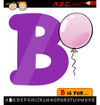 letter b with balloon cartoon vector image