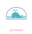linear stylized drawing of whale vector image vector image