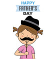 little girl disguised as dad vector image vector image