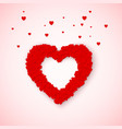 lovely heart frame from small red and pink hearts vector image vector image
