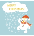 Merry Christmas flat design vector image