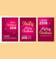 merry christmas party poster template vector image