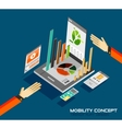 Mobility concept flat design vector image vector image
