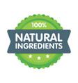 modern green eco badge 100 percent natural vector image vector image