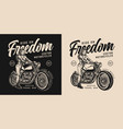 motorcycle vintage monochrome emblem vector image vector image