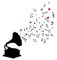 music floral vector image