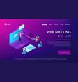 online presentation isometric 3d landing page vector image vector image
