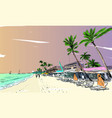 philippines beautiful tropical island resort vector image vector image