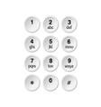phone dialer vector image vector image