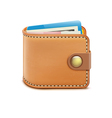 realistic closed wallet vector image vector image