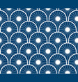 repeating japanese wave pattern vector image vector image