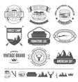 Retro Vintage Insignias set design vector image vector image