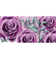 rose flowers watercolor banner poster vector image vector image
