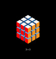 rubik cube cube toy puzzle 3x3 square vector image