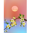 Sakura postcard menu vector image vector image