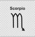 scorpio zodiac sign flat astrology on white vector image vector image