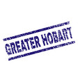 scratched textured greater hobart stamp seal vector image vector image
